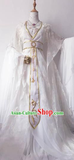 Chinese Ancient Princess Costume Cosplay Empress Clothing Tang Dynasty Queen Embroidered Hanfu Dress for Women