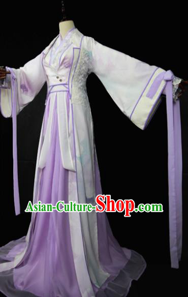 Chinese Ancient Cosplay Fairy Swordswoman Costume Han Dynasty Imperial Consort Embroidered Hanfu Dress for Women