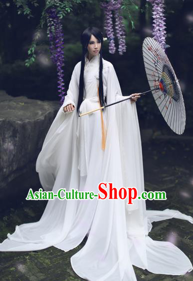 Chinese Ancient Cosplay Swordsman Costume Jin Dynasty Nobility Childe Hanfu Clothing for Men