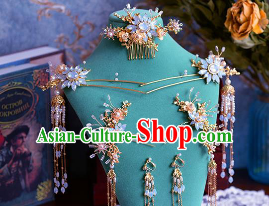 Chinese Traditional Handmade Hair Accessories Ancient Hair Combs Hairpins Complete Set for Women