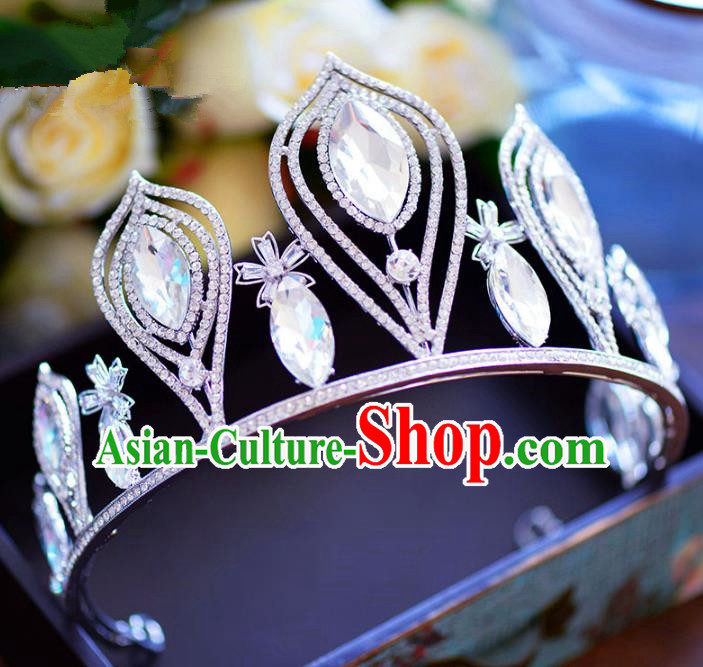 Baroque Style Hair Jewelry Accessories Bride Royal Crown Princess Crystal Imperial Crown for Women