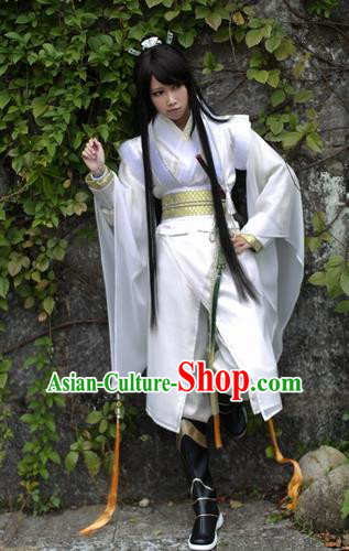 Ancient Chinese Cosplay Young Swordsman Clothing Ming Dynasty Knight Costumes for Men