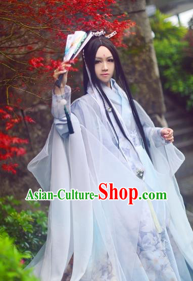 Chinese Ancient Cosplay Costume Northern and Southern Dynasties Swordsman Clothing for Men