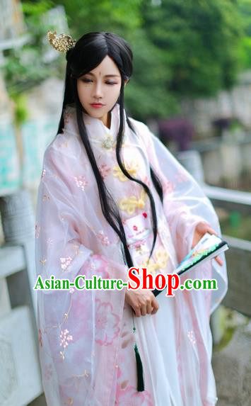 Ancient Chinese Cosplay Swordsman Prince Embroidered Costume Ming Dynasty Nobility Childe Clothing for Men
