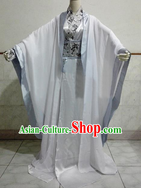 Chinese Ancient Cosplay Nobility Childe Costume Jin Dynasty Scholar Swordsman Clothing for Men