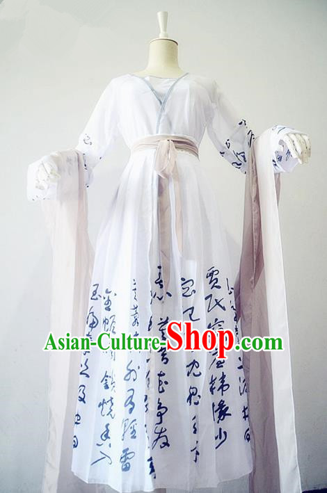 Chinese Ancient Cosplay Swordswoman Costume Traditional Song Dynasty Female Knight Hanfu Dress for Women