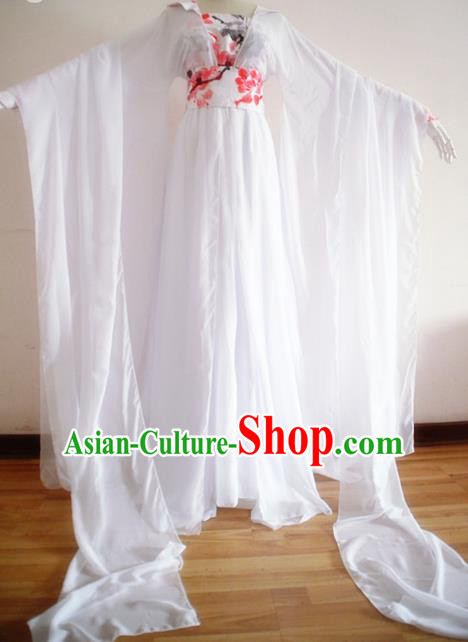 Chinese Ancient Cosplay Princess White Hanfu Dress Traditional Tang Dynasty Palace Lady Costume for Women