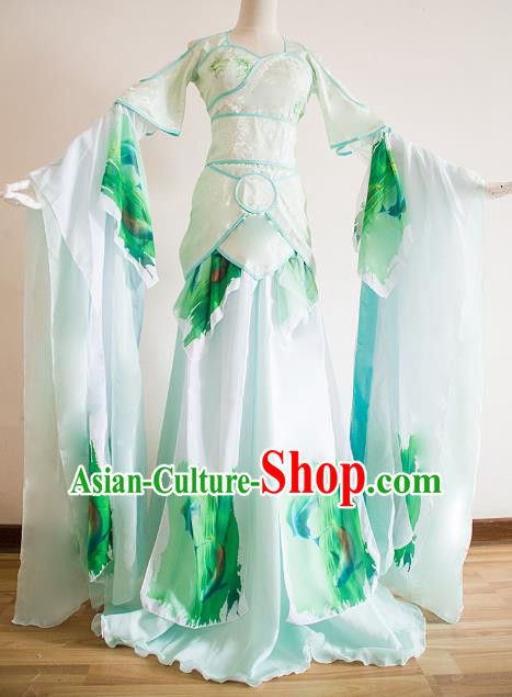Chinese Ancient Cosplay Princess Green Hanfu Dress Traditional Song Dynasty Palace Lady Dance Costume for Women