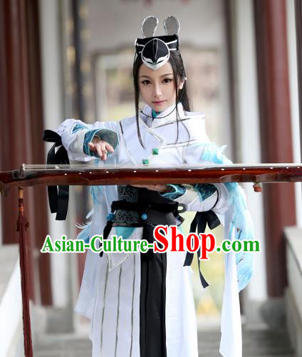 Chinese Traditional Ancient Female Knight Clothing Cosplay Swordswoman Costume for Women