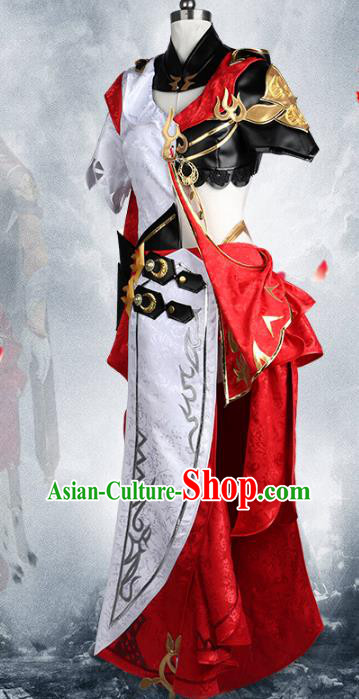 Chinese Traditional Ancient Young Lady Female Warrior Cosplay Swordswoman Costume for Women