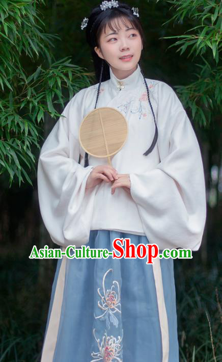 Chinese Traditional Ancient Ming Dynasty Nobility Lady Princess Embroidered Costumes for Women