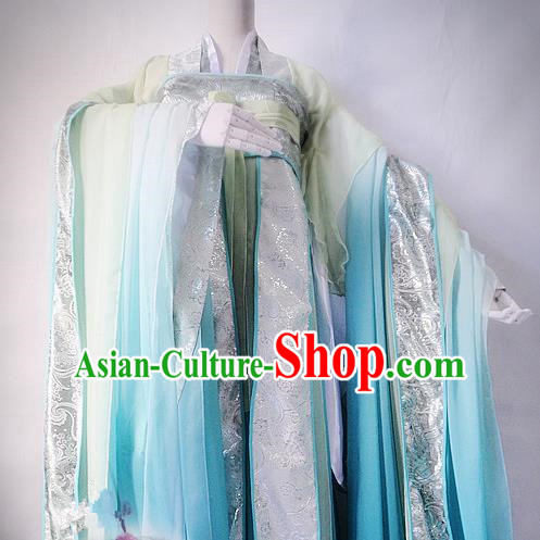 Chinese Tang Dynasty Imperial Princess Green Hanfu Dress Ancient Fairy Traditional Costume for Women