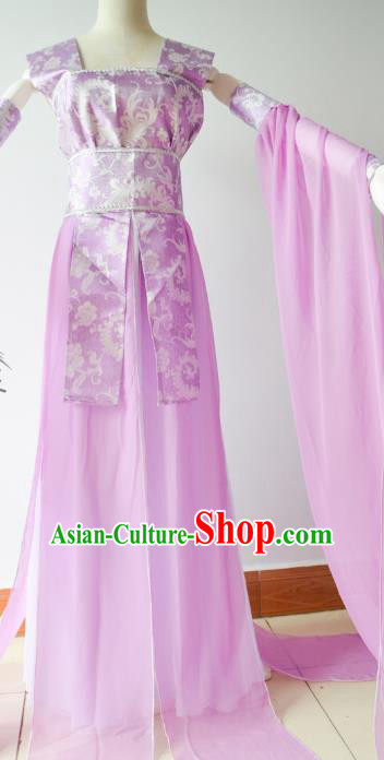 Chinese Tang Dynasty Princess Purple Hanfu Dress Ancient Fairy Traditional Clothing for Women