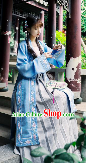 Chinese Ancient Nobility Lady Clothing Traditional Song Dynasty Aristocratic Girls Embroidered Costumes for Women