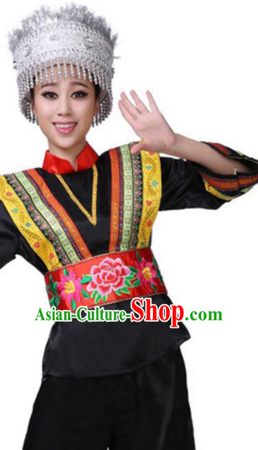 Top Grade Children Classical Dance Lotus Dance Green Clothing, Chinese Stage Performance Folk Dance Costume for Kids