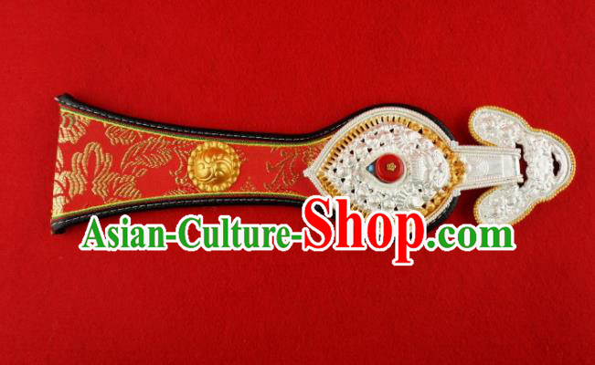 Traditional Chinese Zang Nationality Waist Accessories, China Tibetan Robe Waistband for Kids