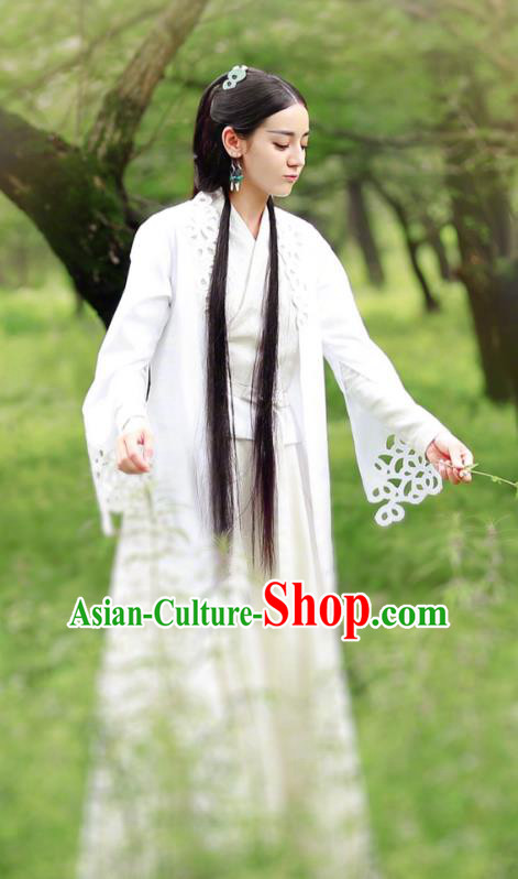 Chinese Ancient Swordswoman Hanfu Dress Chivalrous Female Knight Historical Costume for Women