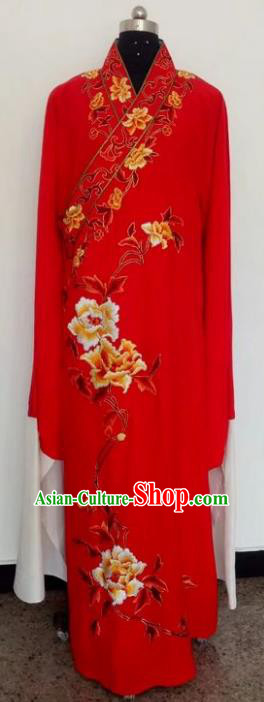 Chinese Traditional Beijing Opera Costumes China Peking Opera Niche Red Robe for Adults
