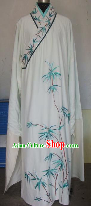 Chinese Traditional Beijing Opera Young Men Costumes China Peking Opera Niche Printing Bamboo Robe for Adults