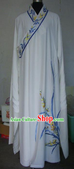 Chinese Traditional Beijing Opera Niche Costumes China Peking Opera Embroidered Orchid Robe for Adults