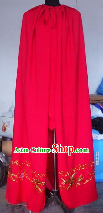Chinese Traditional Beijing Opera Young Lady Costumes China Peking Opera Diva Red Cloak for Adults