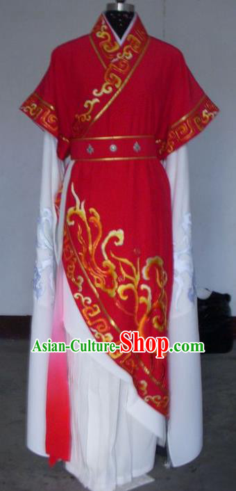 Chinese Traditional Shaoxing Opera Princess Red Robe Peking Opera Niche Costumes for Adults