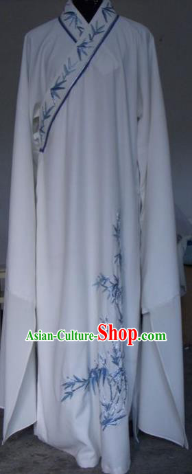 Chinese Traditional Shaoxing Opera Printing Bamboo Robe Peking Opera Niche Costumes for Adults