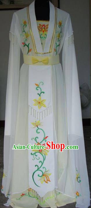 Chinese Traditional Beijing Opera Actress Yellow Dress China Peking Opera Princess Costumes for Adults