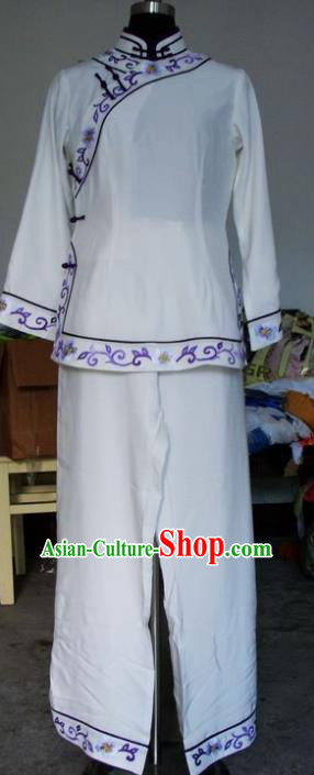 Chinese Traditional Beijing Opera Maidservants Embroidered Clothing China Peking Opera Costumes for Adults