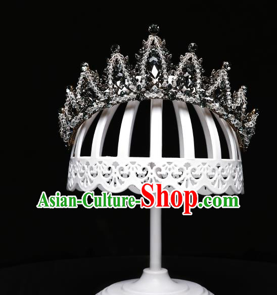 Children Modern Dance Hair Accessories Stage Performance Royal Crown for Kids