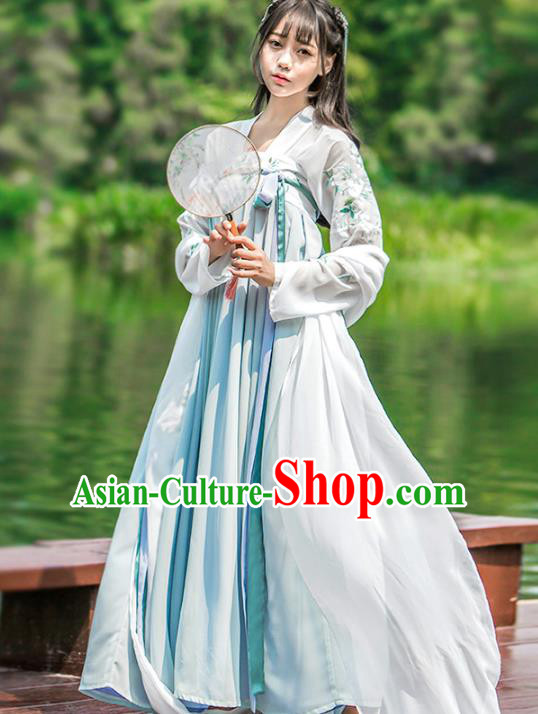 Chinese Traditional Tang Dynasty Princess Costumes Ancient Nobility Lady Hanfu Dress for Women