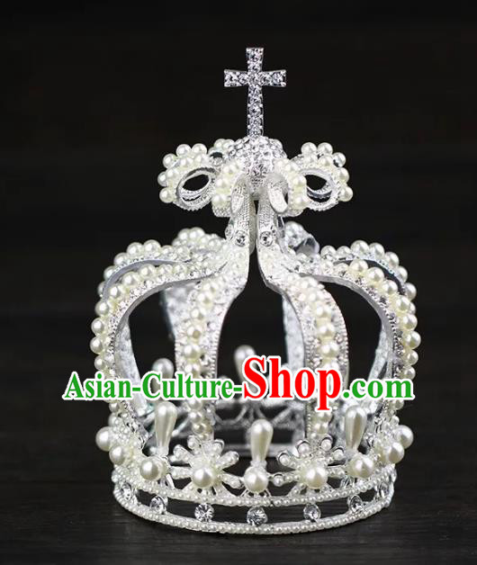 Top Grade Children Stage Performance Hair Accessories Princess Royal Crown for Kids
