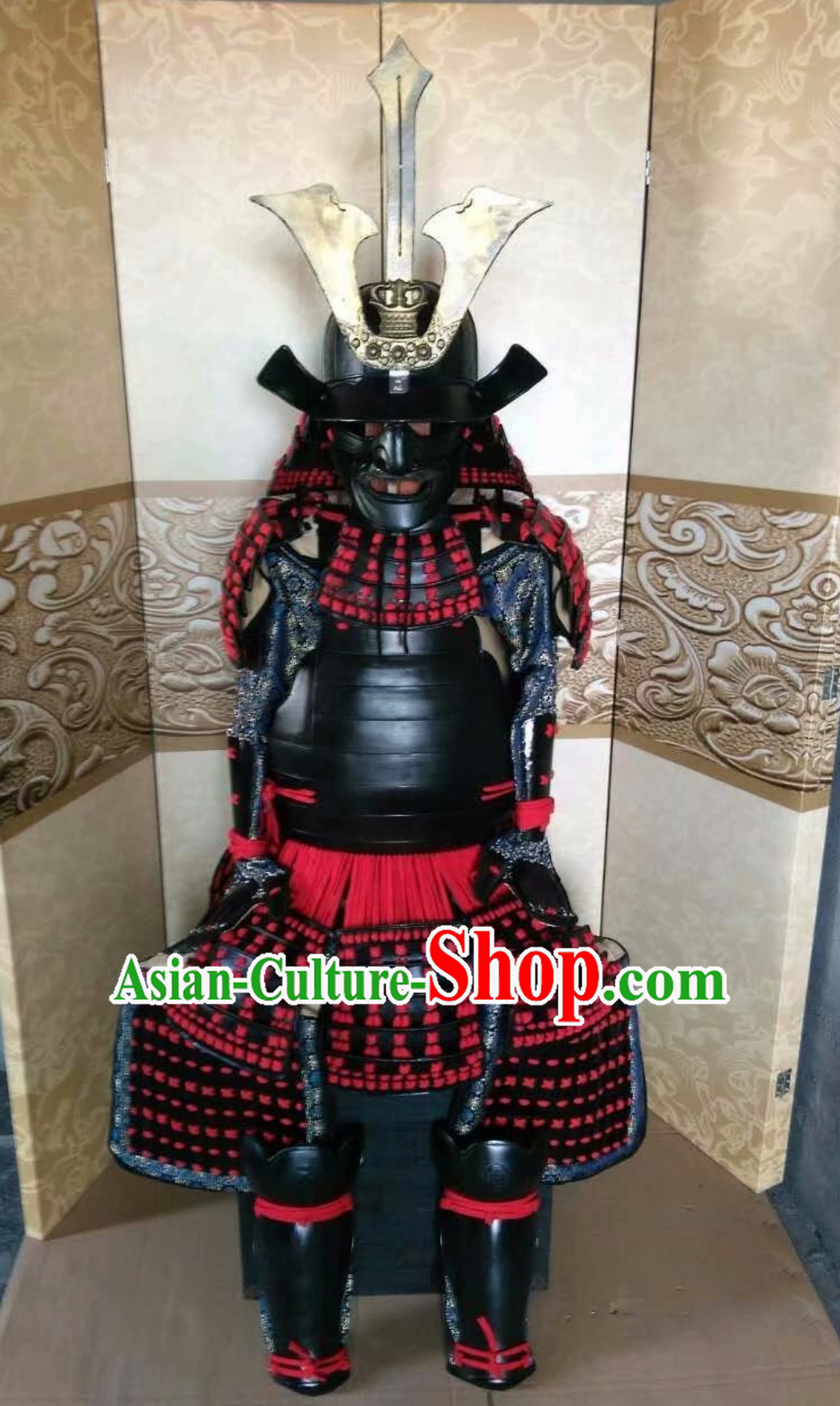 Broad Shoulders Japanese Samurai Armor Replica Authentic Samurai Outfit Clothing Complete Set for Men