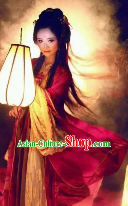 Chinese Tang Dynasty Imperial Concubine Costume Traditional Ancient Palace Lady Hanfu Dress for Women