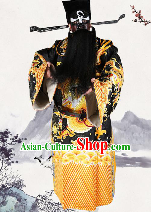 Professional Chinese Beijing Opera Costume Peking Opera Prime Minister Bao Zheng Gwanbok Robe and Hat for Adults