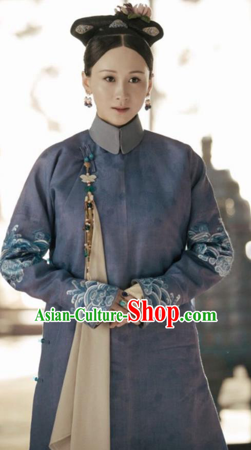 Story of Yanxi Palace Chinese Qing Dynasty Imperial Consort Embroidered Costumes and Headpiece Complete Set