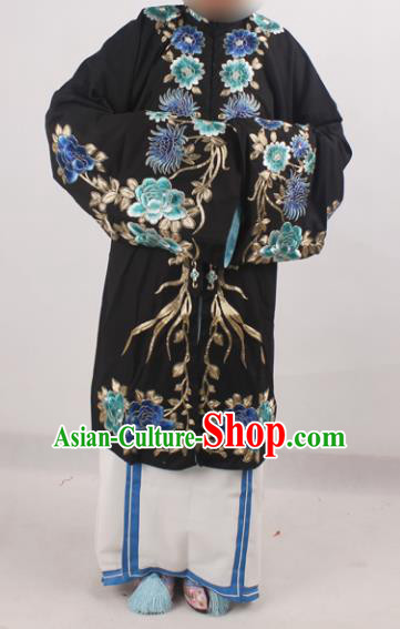 Chinese Peking Opera Pantaloon Costume Ancient Dowager Embroidered Clothing for Adults