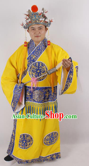 Professional Chinese Peking Opera Court Eunuch Costume and Hat for Adults