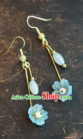 Chinese Handmade Jewelry Accessories Ancient Bride Hanfu Earrings for Women