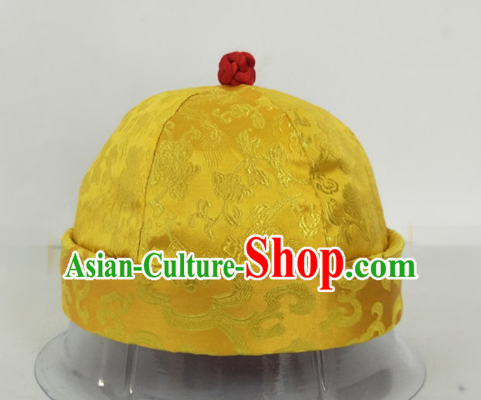 Chinese Ancient Style Handmade Qing Dynasty Emperor Conical Hat for Sale