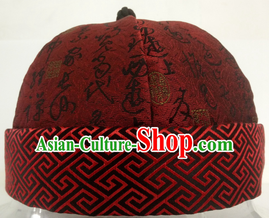 Chinese Ancient Style Handmade Qing Dynasty Bridegroom Hat Wedding Hat for Men