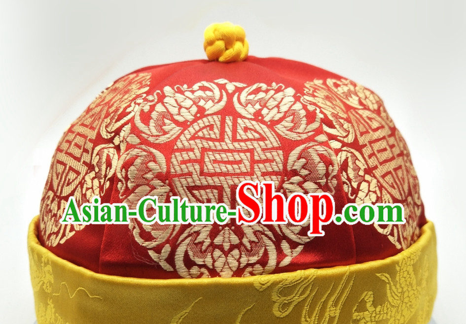 Chinese Classical Handmade Wedding Hat for Men