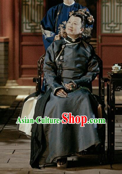 Chinese Ancient Qing Dynasty Empress Dowager Story of Yanxi Palace Embroidered Costumes for Women