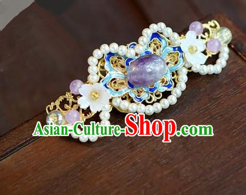 Chinese Handmade Ancient Cloisonne Hair Stick Hair Accessories Ancient Hanfu Hairpins for Women