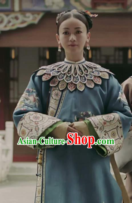 Story of Yanxi Palace Ancient Chinese Traditional Qing Dynasty Imperial Consort Embroidered Costumes for Women