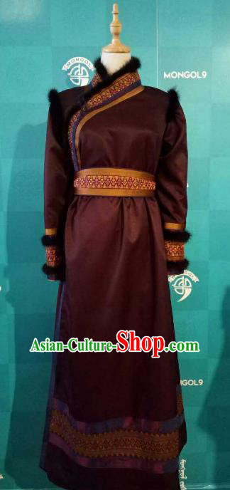 Chinese Traditional Mongolian Folk Dance Clothing China Mongol Nationality Costume for Women