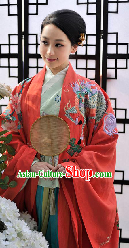 Chinese Ming Dynasty Nobility Dowager Hanfu Dress Ancient Palace Lady Embroidered Costumes for Women