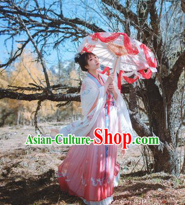 Chinese Ancient Palace Lady Dress Jin Dynasty Imperial Concubine Embroidered Hanfu Clothing for Women