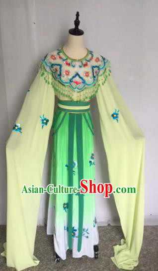 Chinese Traditional Peking Opera Princess Green Dress Beijing Opera Diva Costumes for Adults