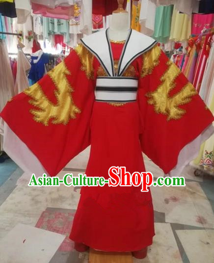 Chinese Traditional Beijing Opera Scholar Embroidered Red Robe Peking Opera Niche Costume for Adults